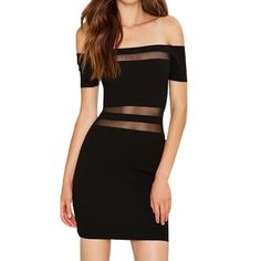 Low Neck Empire Black Dress