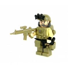 Seal Team 6 Special Forces Minifigure Commando Made With Real LEGO(R) Mini-Figure Parts