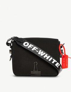 0817ebdc831627 VICTORIA BECKHAM DENIM Off-White x Byredo logo-print canvas cross-body bag