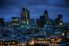 London at night.