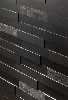 Nemo Tile has unveiled its new Imprint collection, featuring varying three-dimensional tile depths 10 or 13 millimeters) to create intricate patterns suitable for residential, commercial and hospitality settings. Wooden Wall Panels, Wooden Walls, 3d Pattern, Patterns, Wall Treatments, Accent Pieces, Three Dimensional, Wall Tiles, Furniture Design