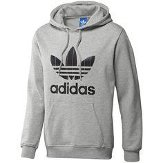 buy online 1292d 26605 Men s Adi Pinstripe Trefoil Hoodie, Mgh  Black Grey Adidas Hoodie, Adidas  Originals Hombre