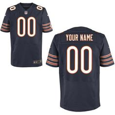 Nike Chicago Bears Customized Elite Team Color Blue Jersey