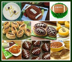 Football shaped food