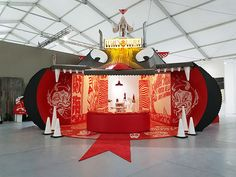 Devils lounge, Scope Art Fair, Miami on Behance Exhibition Booth, Exhibition Space, Stage Design, Event Design, Space Shows, Window Display Design, Backdrop Decorations, Wayfinding Signage, Commercial Art
