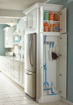 Small Kitchen Makeover Gorgeous Small Kitchen Remodel Ideas 06 - Remodeling your small kitchen shouldn't be a difficult task. When you put your small kitchen remodeling idea on paper, just […] Kitchen Ikea, Kitchen And Bath, Kitchen Small, Hidden Kitchen, Kitchen Cleaning, Smart Kitchen, Kitchen Interior, Awesome Kitchen, Narrow Kitchen