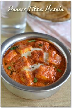 Paneer Tikka Masala and Paneer Tikka Recipe(Stove-top method) try with tofu instead Paneer Tikka Masala Recipe, Tikka Recipe, Paneer Recipes, Veg Recipes, Spicy Recipes, Curry Recipes, Indian Food Recipes, Vegetarian Recipes, Cooking Recipes