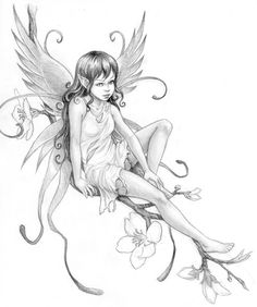 Pencil Drawings of Fairies | Fairy Drawings In Pencil Pencil drawing. fairy tattoo