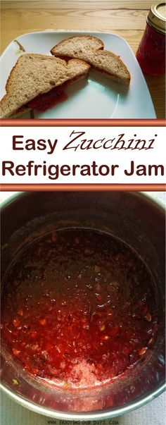 If you are wondering how to use up zucchini, this refrigerator zucchini jam recipe may be it. It is an easy zucchini recipe and one of the most fun recipes for kids.  via @jenniferspears9
