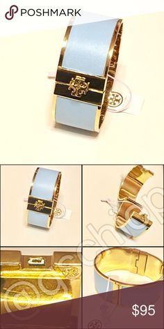 Tory Burch Inlay Cuff Tory Burch Inlay Leather Cuff. Blue. As seen. New. Price firm. Tory Burch Jewelry Bracelets