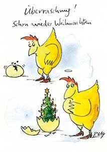 PETER GAYMANN*Cartoon*Ostern*Postkarte*Frohe Ostern*Baum*malen.....10 x 15*