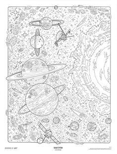 SOLAR SYSTEM doodle art colouring poster: This was uploaded by doodleartposters, FREE jpg download @ photobucket.