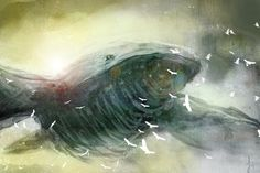 My first sky whale by ~Suiatsu on deviantART