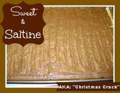 sweet and saltines christmas crack recipe #recipe #food #yummy
