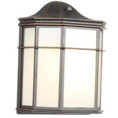 Hampton Bay Oil-Rubbed Bronze Outdoor Dusk-to-Dawn Wall Lantern Sconce - The Home Depot Garage Lighting, Porch Lighting, Wall Lighting, Exterior Wall Light, Exterior Lighting, Classic Lanterns, Compact Fluorescent Bulbs, Bay Lights, Dusk To Dawn