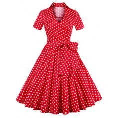 SHARE & Get it FREE | Retro Polka Dot Print Bowknot Flare DressFor Fashion Lovers only:80,000+ Items·FREE SHIPPING Join Dresslily: Get YOUR $50 NOW!