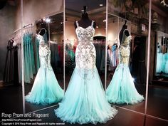 Aqua/Nude Mermaid Evening Gown-Sweetheart Neckline-Straps-Open Back-116XCT0306180 at Rsvp Prom and Pageant, your source for the HOTTEST Prom and Pageant Dresses!