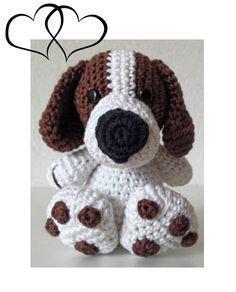 Met dit patroontje maak je deze stoere hond van ongeveer 12 cm. Leuk om cadeau te geven of gewoon lekker voor jezelf ! Je ontvangt de Nederlandse van het haakpatroon in een PDF document Het haakpatroon is gemakkelijk te volgen. Let op: u koopt het patroon van Boris, niet het eindproduct !