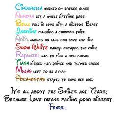 Disney Princesses are the best teachers...