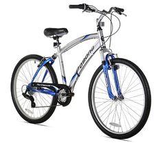 Love It! Northwoods Pomona Men's Cruiser Bike (26-Inch Wheels), Silver/Blue