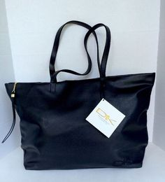 New with Tags Donna Karan Extra Large Tote Purse Faux Leather | eBay