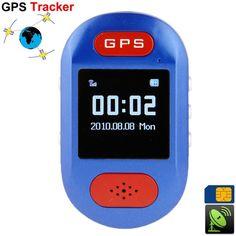 Mini traceur GPS portable mini téléphone SOS kit mains libres bleu