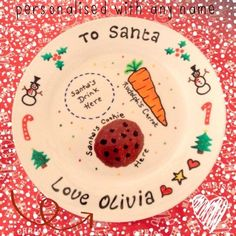 Personalised Christmas plate