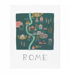 Rome Illustrated Art Print