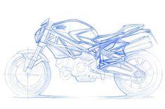 Ducati, Monster 696 by shtrlz, sketch Motorbike Design, Bicycle Design, Sketch Design, Design Art, Monster Sketch, Monster 696, Motorcycle Tattoos, Motorcycle Bike, Bike Sketch