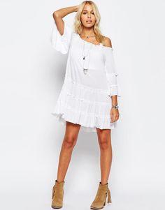 ASOS | ASOS Tiered Cold Shoulder Dress at ASOS