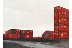 shipping containers on medium format