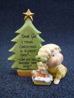 Enesco Dear God Kids I Think Christmas Is A Great Idea (pt427)