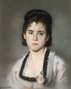 Retrato de Jeanne Gonzales, obra de Eva Gonzales