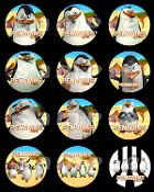 THE PENGUINS OF MADAGASCAR 2.5 ROUND STICKERS, THE PENGUINS OF MADAGASCAR party favor