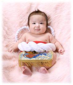 ベビー相撲力士!? 100日記念の生後3ヶ月の赤ちゃん画像♡