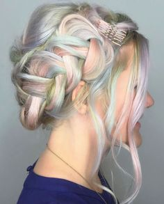 18 Rainbow Hairstyles Prettier Than an Easter Egg via Brit + Co