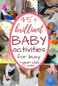 45+ Brilliant Baby Activities for Busy One Year Olds - Happily Ever Mom