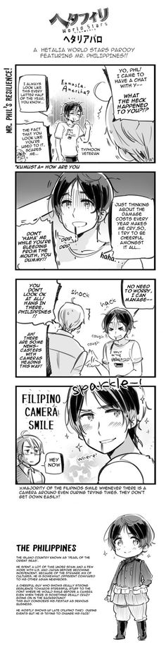 Stay positive, Philippines! | Hetalia Parody. By ROSEL-D (deviantart)