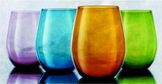 Attractive Set of Four (4) Unique Colored Stemless Wine Glasses 16-oz ~ Party Drinking Glassware Set G F Goods http://smile.amazon.com/dp/B00FRMSSA0/ref=cm_sw_r_pi_dp_-mdtub0RMDQ66