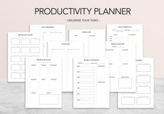 Create Your Own Planner, To Do Planner, Weekly Planner, Desk Paper Organizer, Paper Organization, To Do Lists Printable, Printable Planner, Printables, Weekly Goals