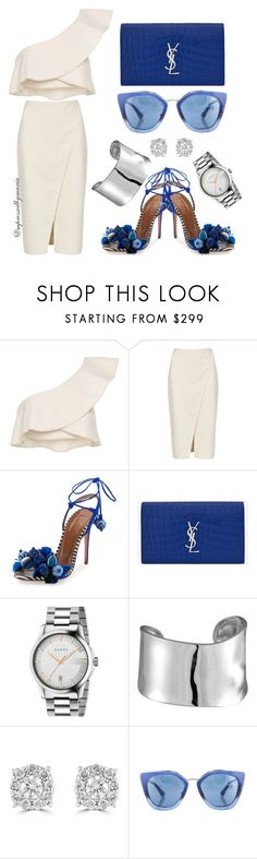 """""""Blue Steel"""" by mpressed-style-by-maria ❤ liked on Polyvore featuring Isabel Marant, Acne Studios, Aquazzura, Yves Saint Laurent, Gucci, Lord & Taylor, Effy Jewelry and Prada"""