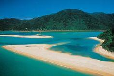 Der Abel Tasman Nationalpark auf der Südinsel Neuseelands.