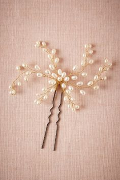 Dewed Vines Hairpin in Bride Veils & Headpieces Pins, Clips & Combs at BHLDN