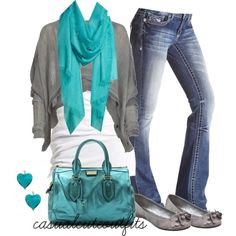 Teal and Grey :)