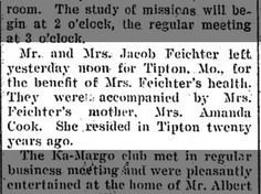 Clipping found in The Fort Wayne News in Fort Wayne, Indiana on Mar Amanda & daughter Mary-go to Missouri Missouri, The Twenties, Amanda, Mary, Daughter, Cook, My Daughter, Daughters