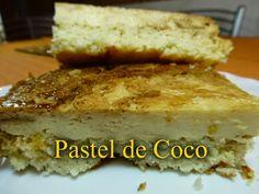 Pastel de coco Un postre delicioso muy fácil de hacer.