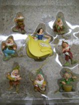 Disney Ornament Set SNOW WHITE AND THE SEVEN DWARFS Authentic-Original to Disney Parks
