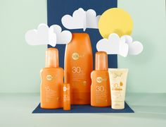 Planning to escape the grey skies? Stock up on sun cream before you fly! Beauty Photography, Creative Photography, Product Photography, Cosmetic Design, Sun Care, Cosmetic Packaging, Creative Advertising, Commercial Photography, Ad Design
