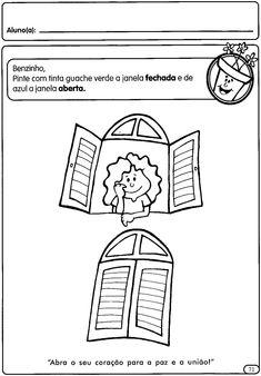 ATIVIDADES CONCEITOS: ABERTO E FECHADO | Cantinho do Educador Infantil Math Games, Activities For Kids, Kindergarten, Learning, 1, Alice, Craft, Learning Activities For Kids, Preschool Learning
