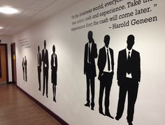 Business section of college decals by Wall Chimp